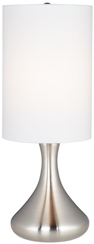 Brushed Steel Mini Droplet Accent Table Lamp