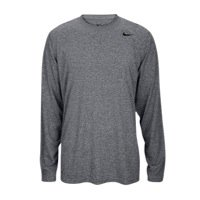 Nike Gear Running - Nike Grey Heather Dri-FIT Legend Long Sleeve Top (X-Large)