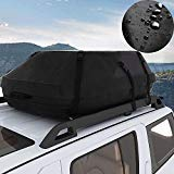 Miageek Waterproof Cross Country Car Roof Top Carrier Water Resistant Non Slip Soft Rooftop Travel Cargo Bag Storage for Any Car Van or SUV/with Straps (M)