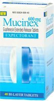 Mucinex Extended Release Size 40ct