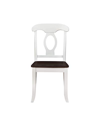Coaster Set of 2 Bremerton Rich Brown and White Side Chair 122332 ()