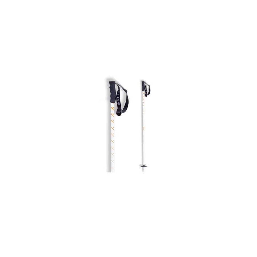Black Crows Meta Ski Poles White/Orange, 115cm