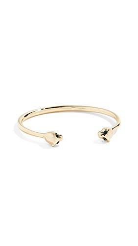SHASHI Women's Panther Cuff Bracelet, Yellow Gold, One Size ()
