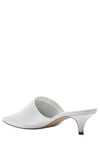 next Mujer Mules Piel Corte Regular Zapatillas Calzado Blanco