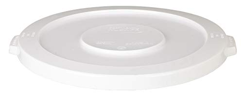 Continental 1002WH 10-Gallon Huskee LLDPE Waste Lid, Round, White Continental Round Huskee Container