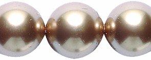 Swarovski 5810 Crystal Round Pearl Beads, 10mm, Bronze, 10 Pack