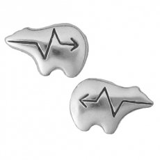 Zuni Bear Post Earrings .925 Sterling Silver. Also see matching pendant SKU# B008C4D45O