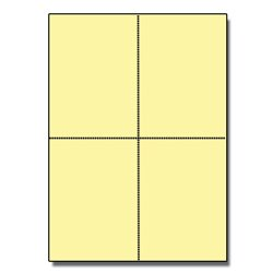 Postcards 4up Exact Yellow 1000/pkg by Zapco