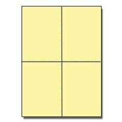 Postcards 4up Exact Yellow 1000/pkg