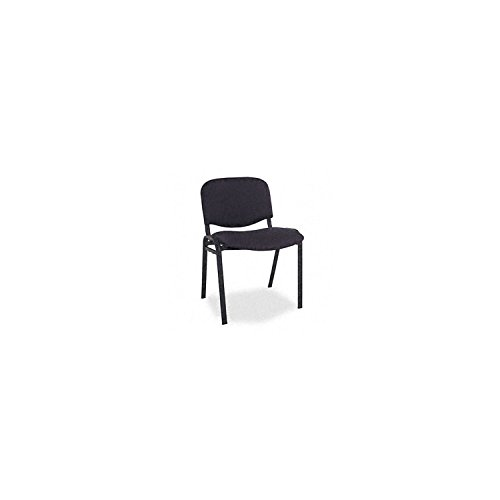 Alera - Continental Series Stacking Chairs, Fabric Upholstery, Black - 4 Pack