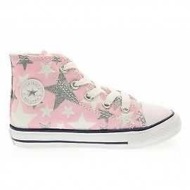 - Converse Baby Sneakers High 756837C CTAS Hi Fairy Pink Stars Little Kid Size 4 M US Toddler