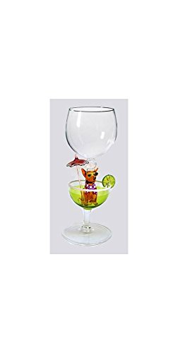Hand Blown Chihuahua Wine Glass by Yurana Designs W294