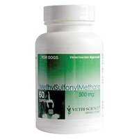 Vetri-Science Laboratories Methylsulfonylmethane 500 Supplément pour chiens, 60 Count