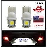 2x 168 194 T10 5SMD LED Bulbs Car License Plate Lights Lamp White 12V