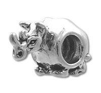 STERLING SILVER Rhino Spacer BEAD 3.8 MM HOLE (Rhino Silver)
