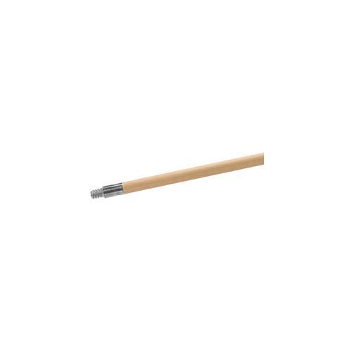 Carlisle 4526700 Lacquered Wood Broom Handle with Metal Threaded Tip, 60'' Length, 15/16'' Diameter (Pack of 12)