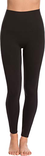 (Spanx Womens Seamless Print Leggings Black SM 24)