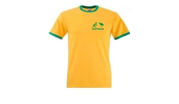 Amazon.com : Camiseta Hombre Ases Australia Cricket Amarilla - Todas Las Tallas : Sports & Outdoors