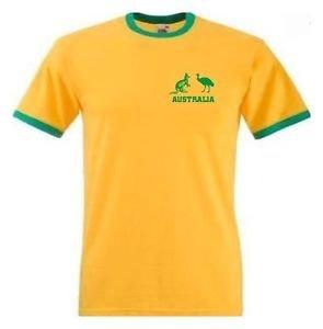 Camiseta Hombre Ases Australia Cricket Amarilla - Todas Las Tallas