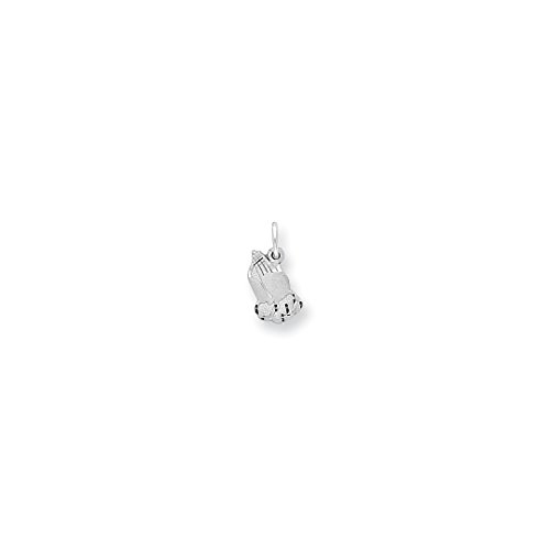 ICE CARATS 10kt White Gold Praying Hands Pendant Charm Necklace Religious Fine Jewelry Ideal Gifts For Women Gift Set From Heart