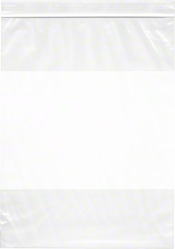 "Plymor 9"" x 12"", 4 Mil (Pack of 200) Heavy Duty Plastic Reclosable Zipper Bags w/ White Block"