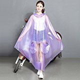 Tsptool Transparent wide brim raincoat Motorcycle Scooter Rain Women Men Big Raincoat Cover Cape Poncho Pink( - Store Ny Macys