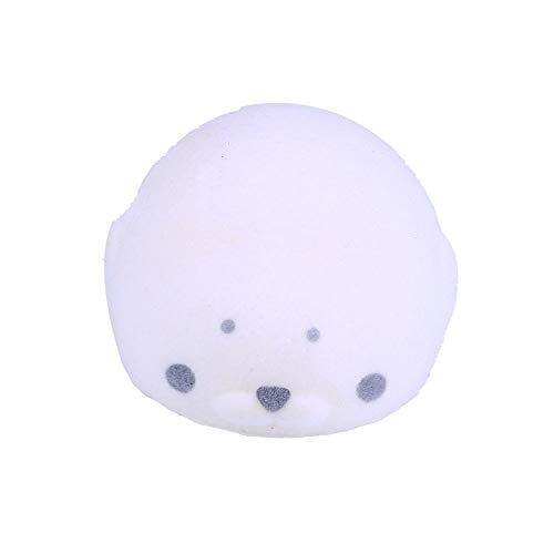 Sagton Squishy Toy,Kawaii Flocking Seal Soft Mini Slow Rising Scented Kids Adult Stress Relief Toy (White)