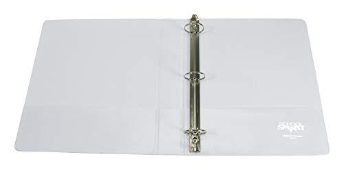 School smart view binder 1 1/2 inches white