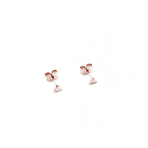 HONEYCAT Tiny Triangle Stud Earrings in 18k Rose Gold Plate | Minimalist, Delicate Jewelry -