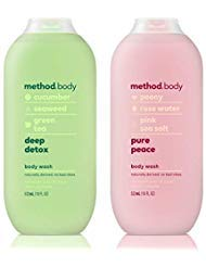 Method Body Body Wash - Deep Detox & Pure Peace - Set of 2 (Each 18 fl oz 532 ml)