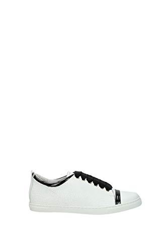 Mujer Blanco Eu fwskpk0ptaex Lanvin Piel Sneakers qxwWUH5n