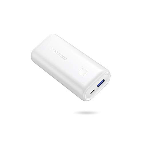 POWERADD EnergyCell 10000, Ultra-Compact High-Speed Charging Portable Charger, Smallest and Lightest 10000mAh Power Bank Compatible for iPhone 11 XS X 8 Plus Samsung S10 Google and More (White)