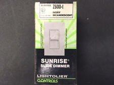 LIGHTOLIER Z-600-I Wall Switch Slide DIMMER 120VAC 600W 60HZ Ivory