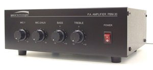 eries Pa Amplifier Auto Mute Function Two Channels Manual Muting Contacts by SPECO (Contractor Amplifier)