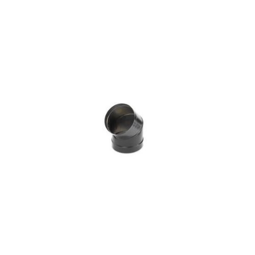 Copperfield 69020 6 Inch Dura-black 24-ga Welded Black Stovepipe, 45 Deg Sectioned, Nonadjustable Elbow (Pipe Black Dura 24ga)