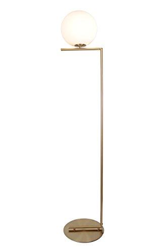 EQLight EQMCFB041 Task Floor Lamp, Gold/White
