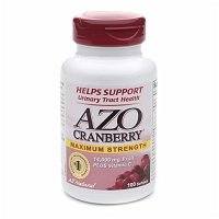 Cranberry AZO, Maximum Strength, gélules 100 EA