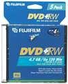 Fujifilm Media 25322075 DVD+RW 4.7GB 120 Mintes Disc 4X Jewel Storage Media - 5 Pack (Discontinued by Manufacturer)