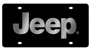 Jeep Chrome License Plate - Jeep License Plate