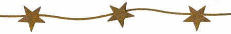 Group of 3 Rusty Tin Stars 6 Foot Rusted Metal Garlands (Total of 18 Feet) Rusted Metal Garland