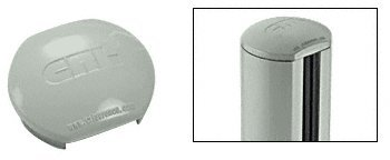 180 Degree Center Post (Agate Gray Aluminum Windscreen System Round Post Cap for 180 Degree Center or End Posts)