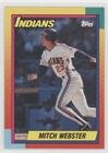 Mitch Webster (Baseball Card) 1990 Topps Traded - [Base] - Wax Pack Grey Back - Mitch Grey