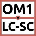 LC to SC Fiber Patch Cable Multimode Duplex - 15m