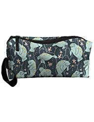 Travel Makeup Manatee Large Cosmetic Pouch Makeup Travel Bag Purse Holiday Gift For Women Or Girls by Styleforyou (Image #1)