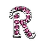 Pet Care Preferred 3/8'' Pink Script Letter Sliding Charms R