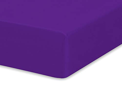 (Pure Bamboo Sheets - Fitted Bamboo Crib Sheet - 100% Organic Bamboo - Fits Standard Size Crib Mattress - Incredibly Soft, Breathable and Hypoallergenic - Unisex Design (Purple))