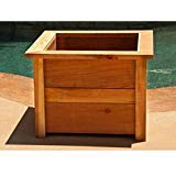 (Hollis Wood Products 22 in. Square Redwood Planter Box)