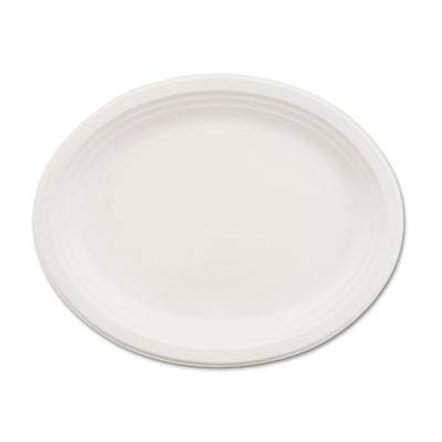 Chinet 21257CT Classic Paper Dinnerware, Oval Platter, 9 3/4 x 12 1/2, White (Case of ()
