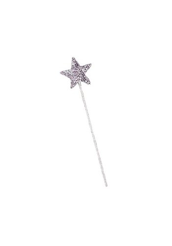 Witch Wand (Jacobson Hat Company Women's Star Wand, Silver, One Size)