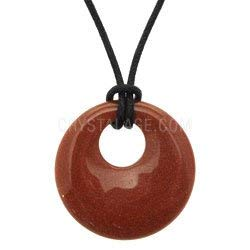 CrystalAge Red Goldstone Donut Pendant (Gift Boxed)